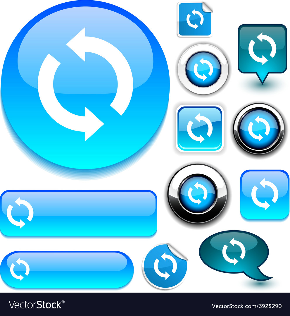 Refresh blue signs vector   Price: 1 Credit (USD $1)