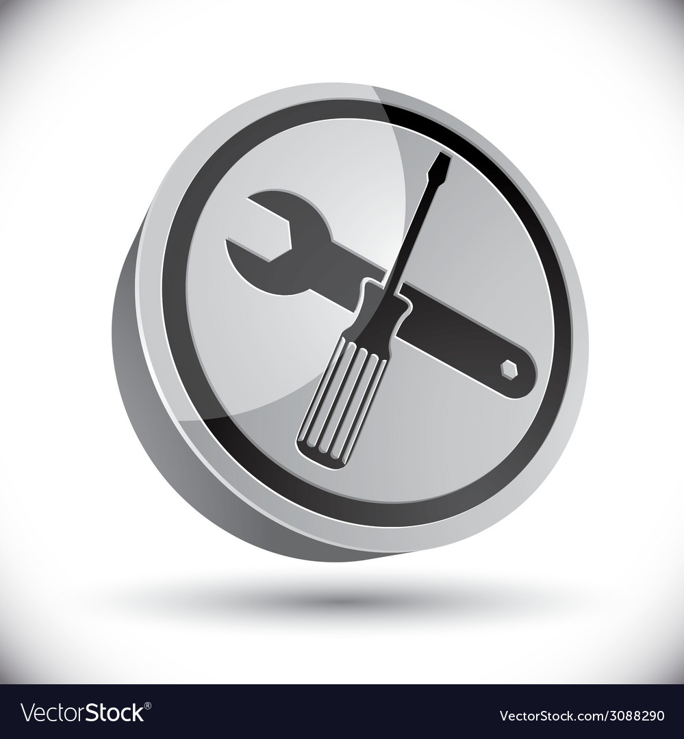 Repair icon with wrench and screwdriver vector | Price: 1 Credit (USD $1)