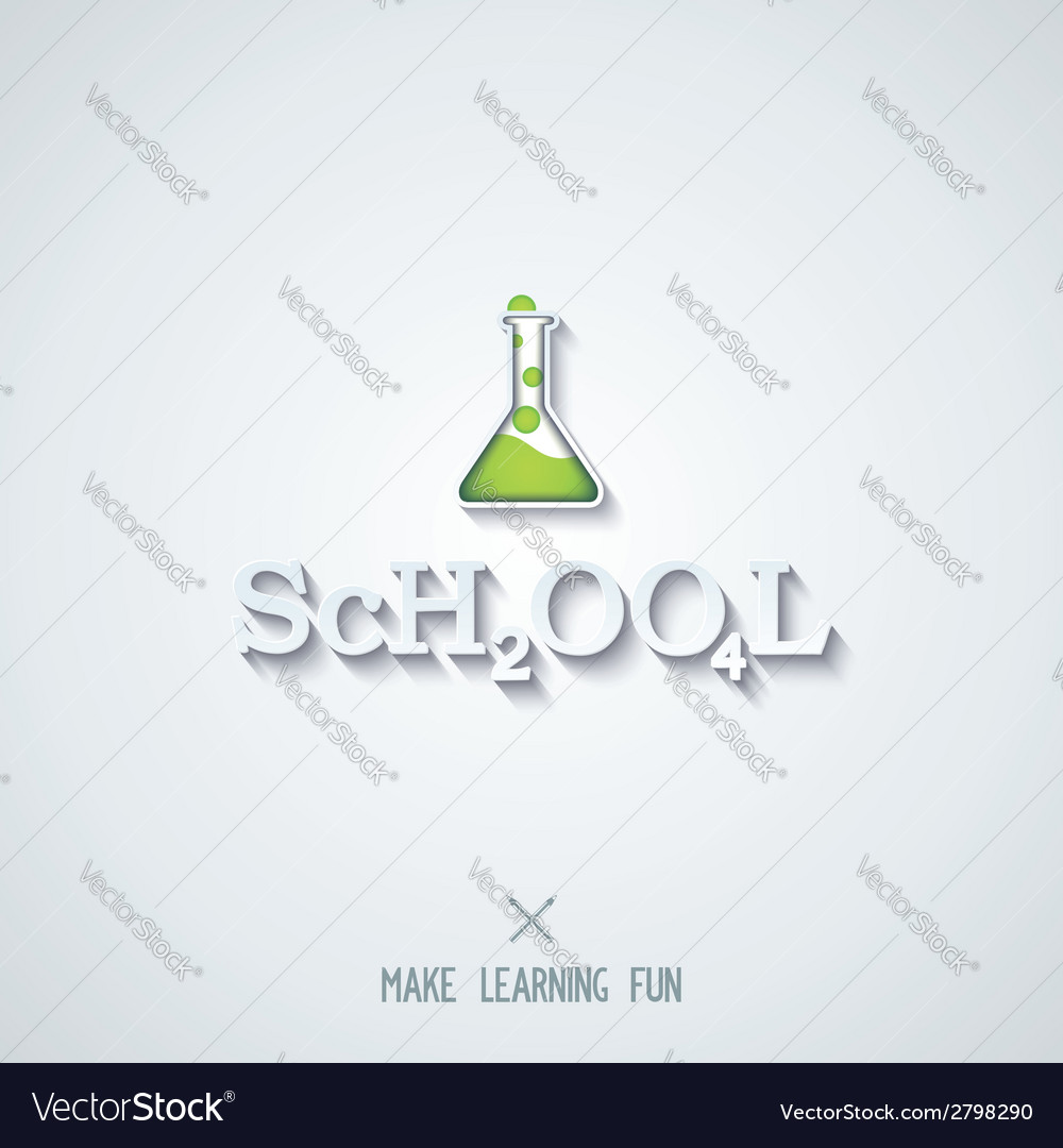 School - conceptual lettering design vector | Price: 1 Credit (USD $1)