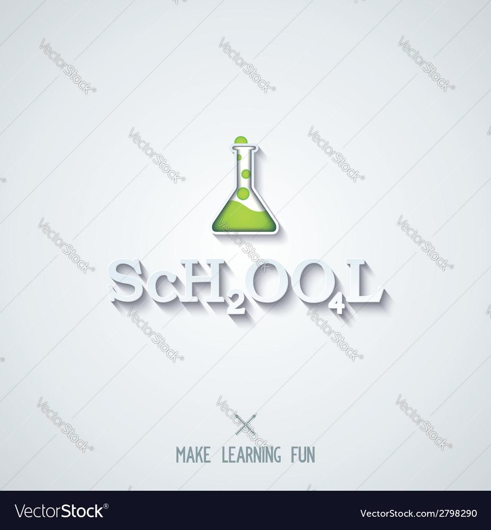 School - conceptual lettering design vector | Price: 1 Credit (USD $1)