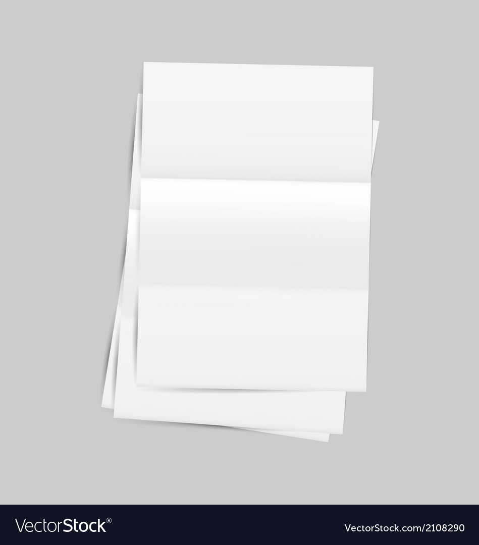 Set empty paper sheet with shadows vector | Price: 1 Credit (USD $1)
