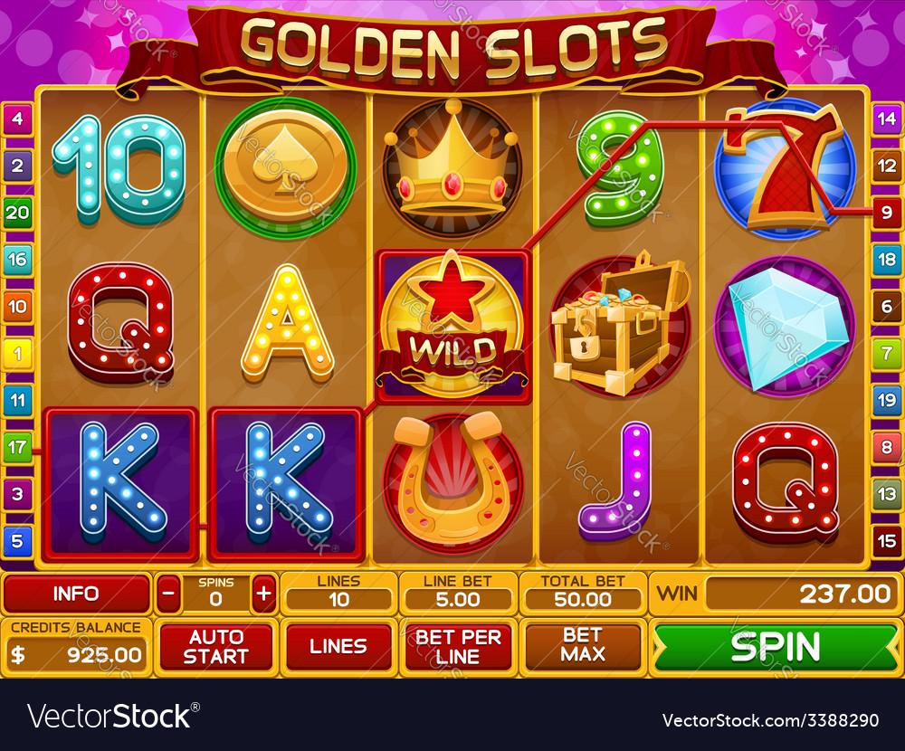 Slots game vector | Price: 3 Credit (USD $3)