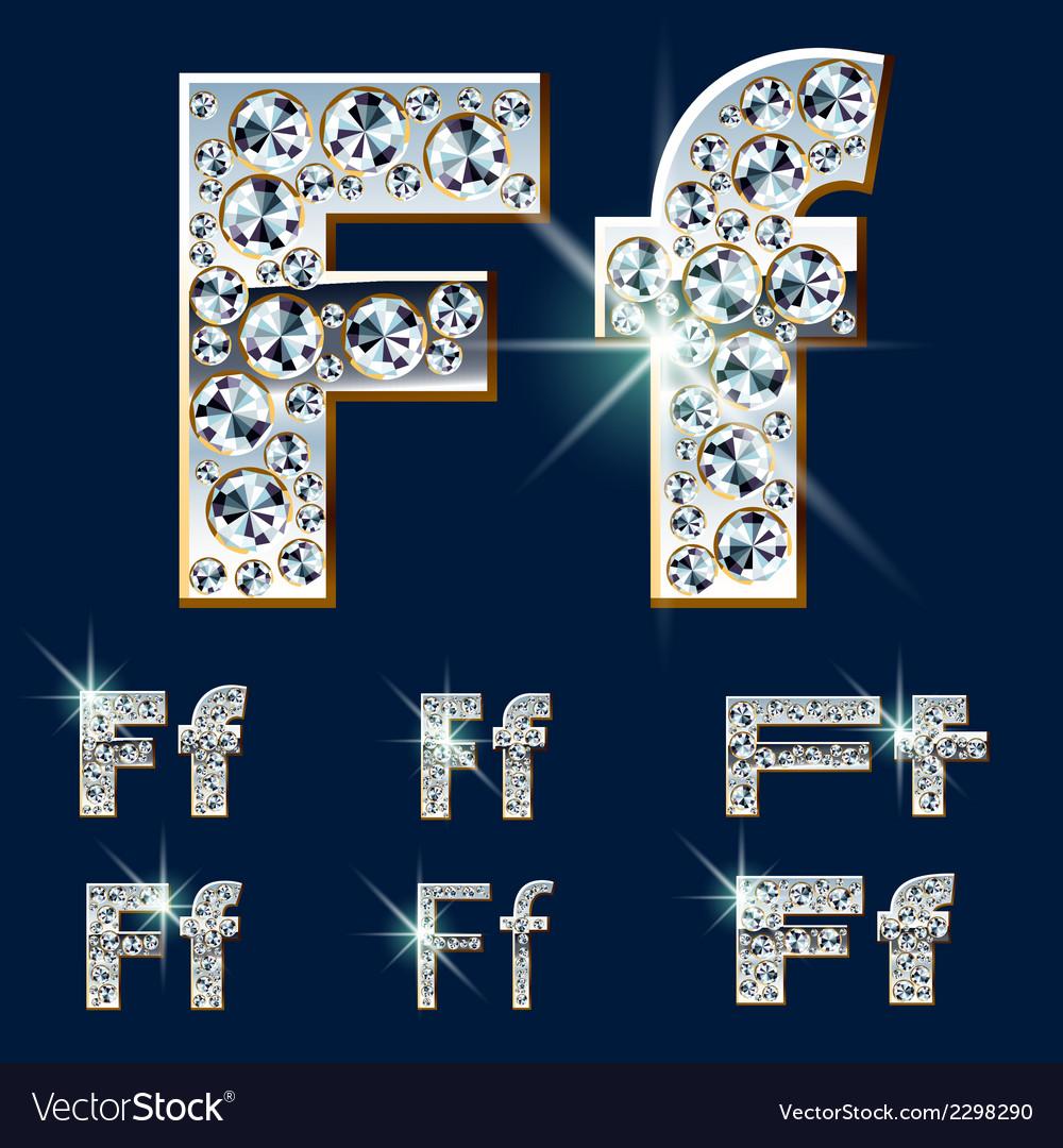 Ultimate alphabet of diamonds and platinum ingot vector   Price: 1 Credit (USD $1)