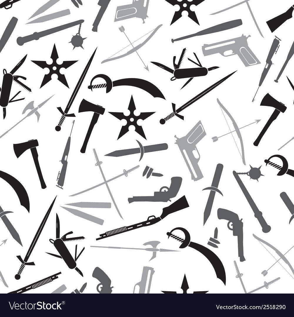 Weapons and guns gray pattern eps10 vector | Price: 1 Credit (USD $1)