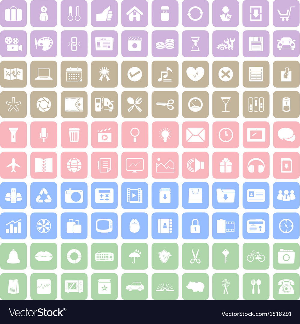100 square icon vector | Price: 1 Credit (USD $1)