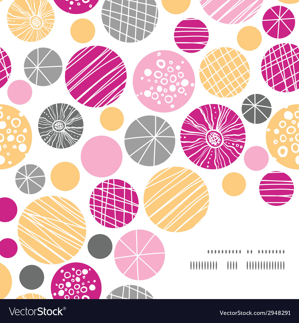 Abstract textured bubbles frame corner pattern vector | Price: 1 Credit (USD $1)