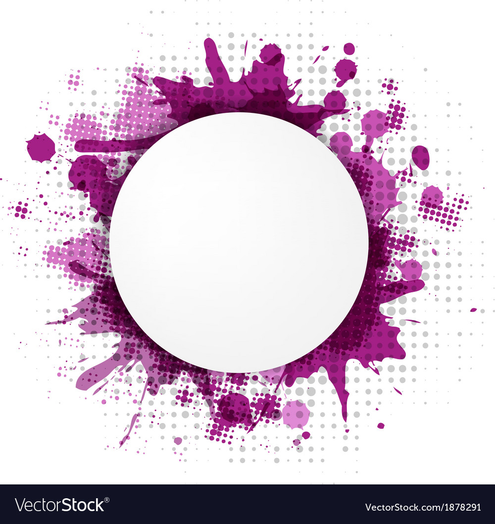 Abstract violet bubble with blobs vector | Price: 1 Credit (USD $1)