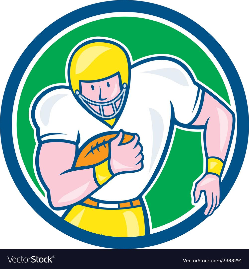 American football fullback circle retro vector | Price: 1 Credit (USD $1)