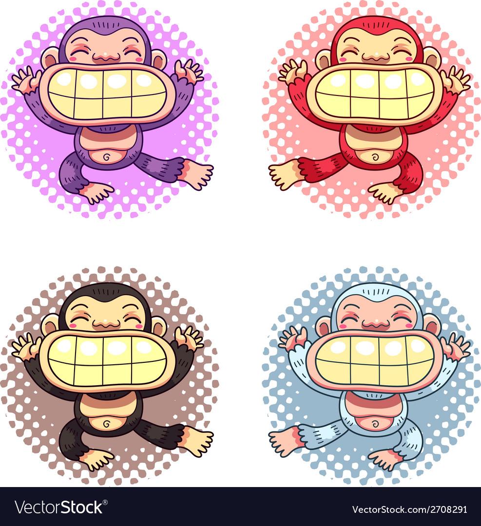 Cartoon gorillas vector | Price: 1 Credit (USD $1)