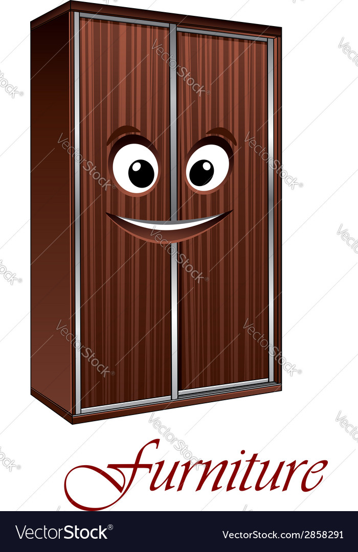 Cartoon wardrobe character vector | Price: 1 Credit (USD $1)
