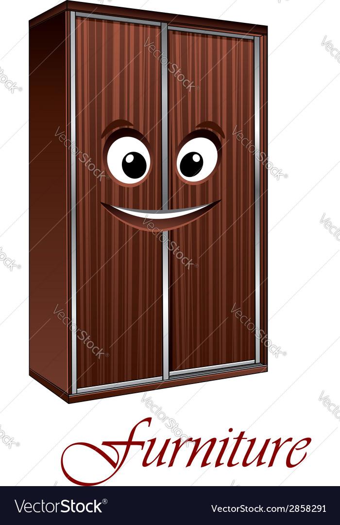 Cartoon wardrobe character vector | Price: 1 Credit (USD $1)