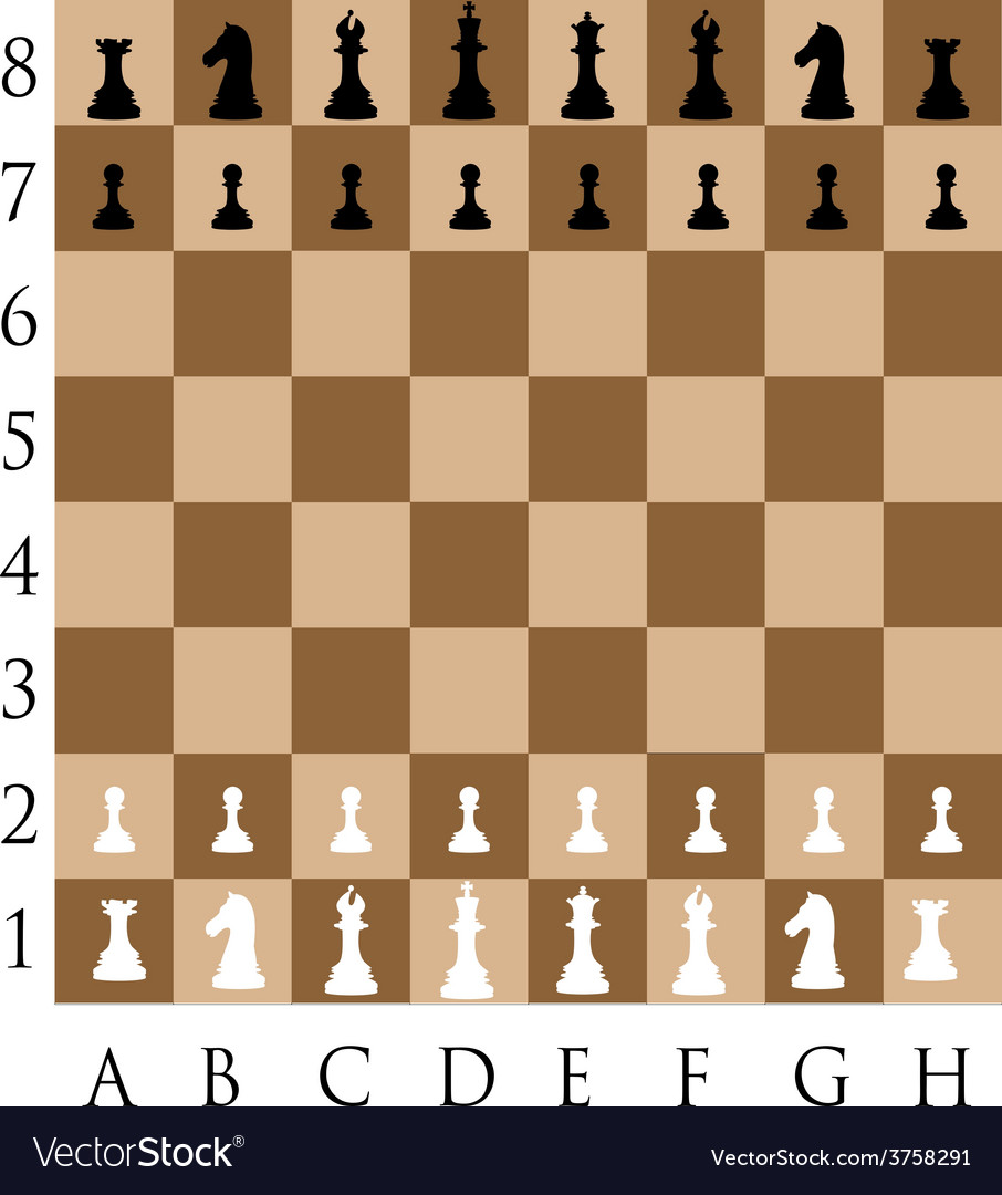 Chess pieces on the wooden desk vector | Price: 1 Credit (USD $1)