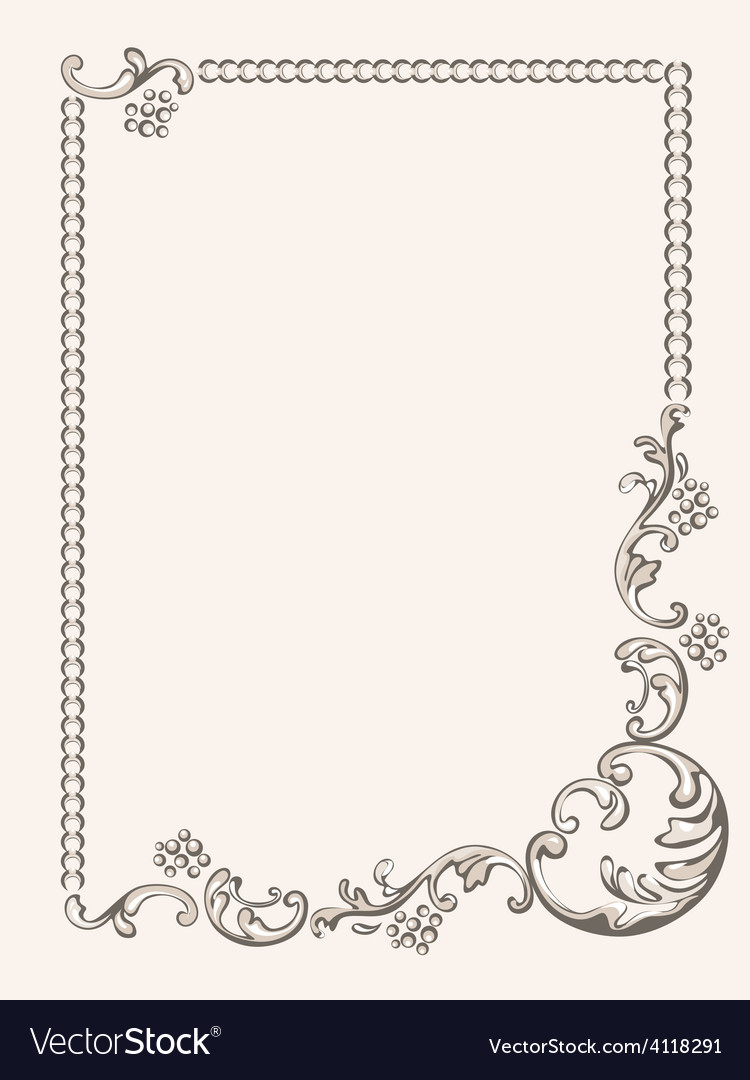 Frame ornament vintage vector | Price: 1 Credit (USD $1)