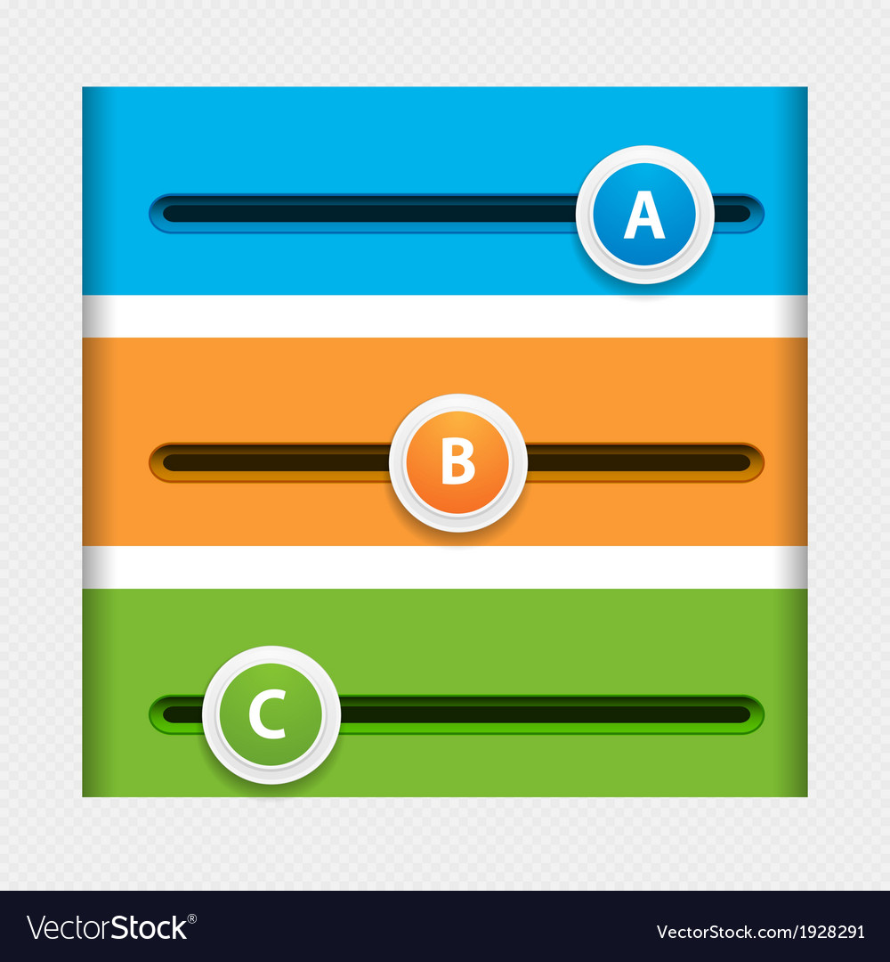 Infographic sliders vector | Price: 1 Credit (USD $1)