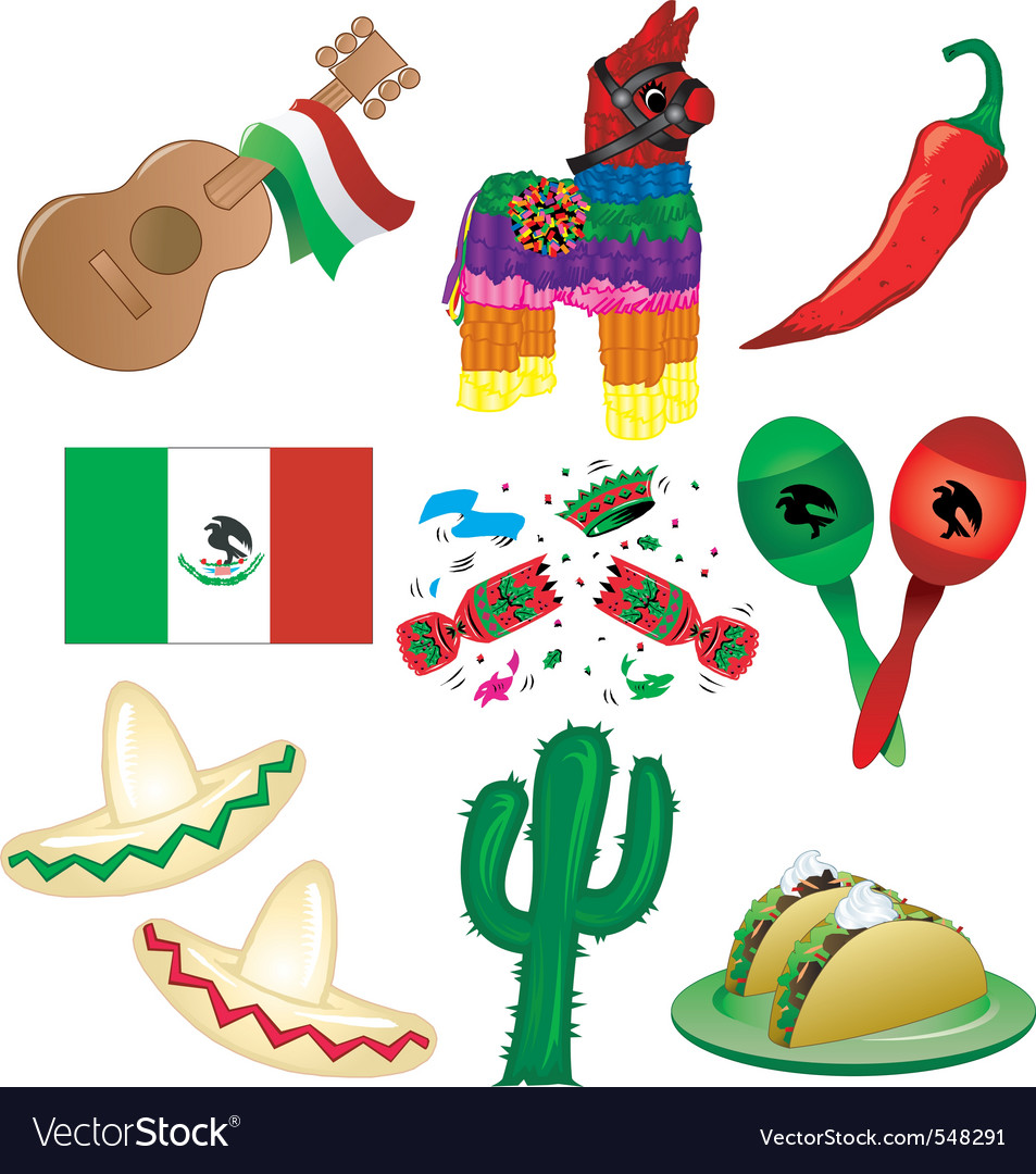 Mexican party vector | Price: 3 Credit (USD $3)