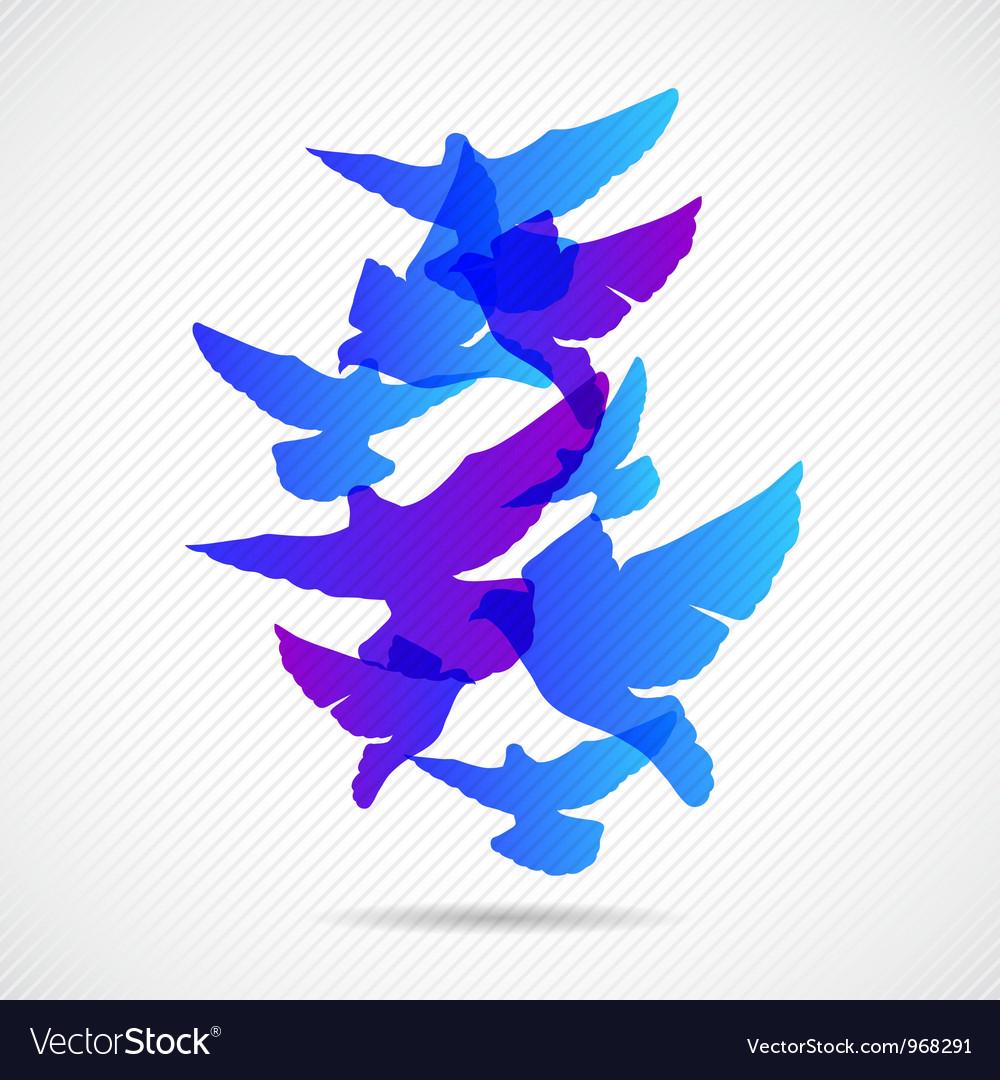 Pigeons design background vector | Price: 1 Credit (USD $1)