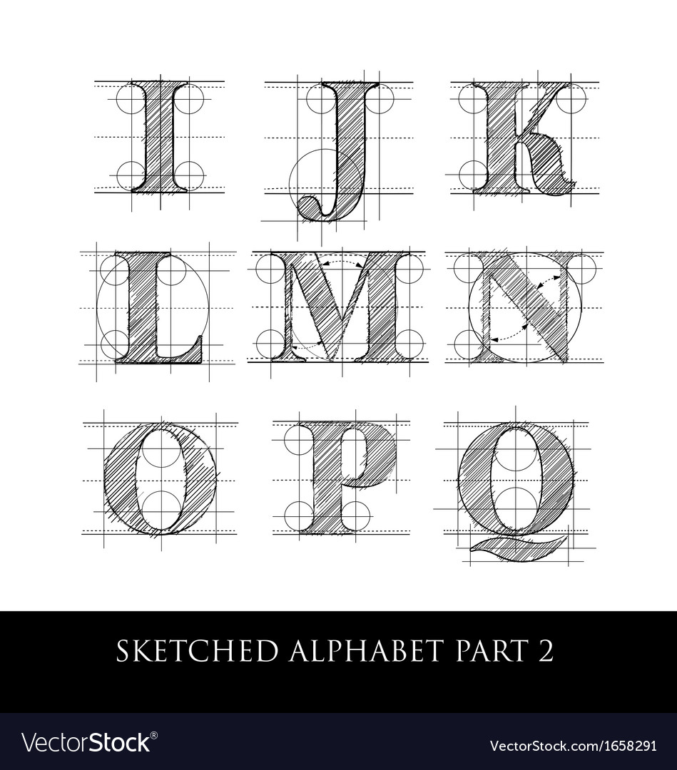 Sketched diagram alphabet set 2 vector | Price: 1 Credit (USD $1)