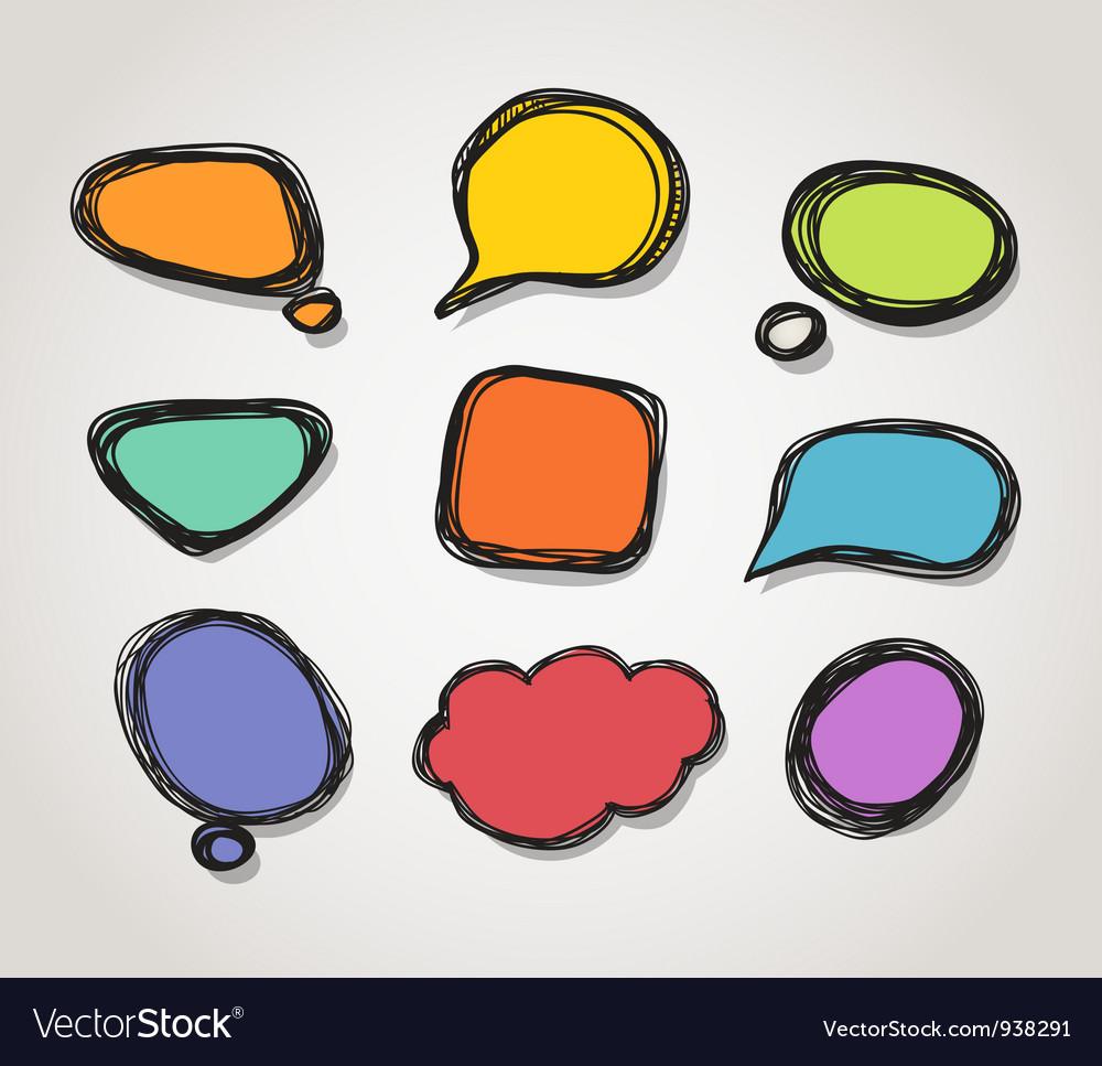 Speech bubble frames vector | Price: 1 Credit (USD $1)