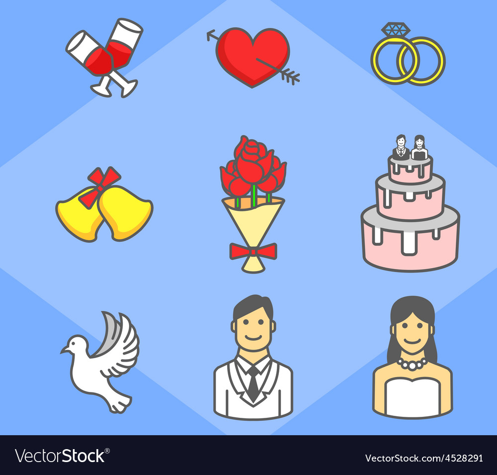 Wedding simple icon pack vector   Price: 1 Credit (USD $1)