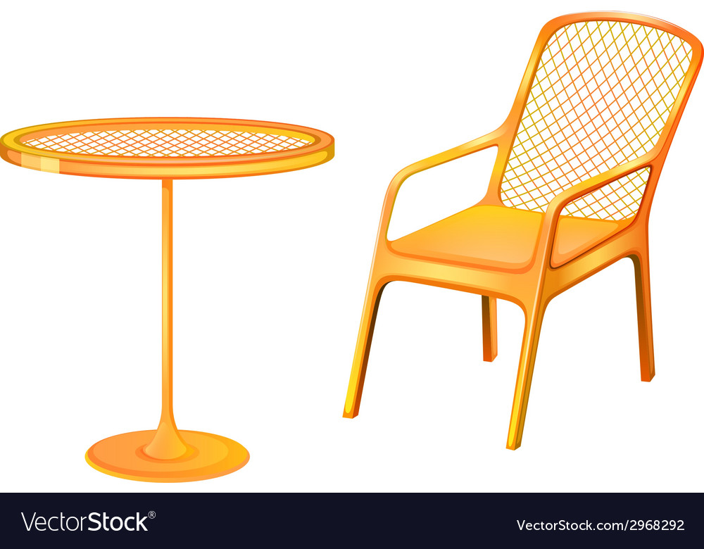 A table and chair furniture vector | Price: 1 Credit (USD $1)