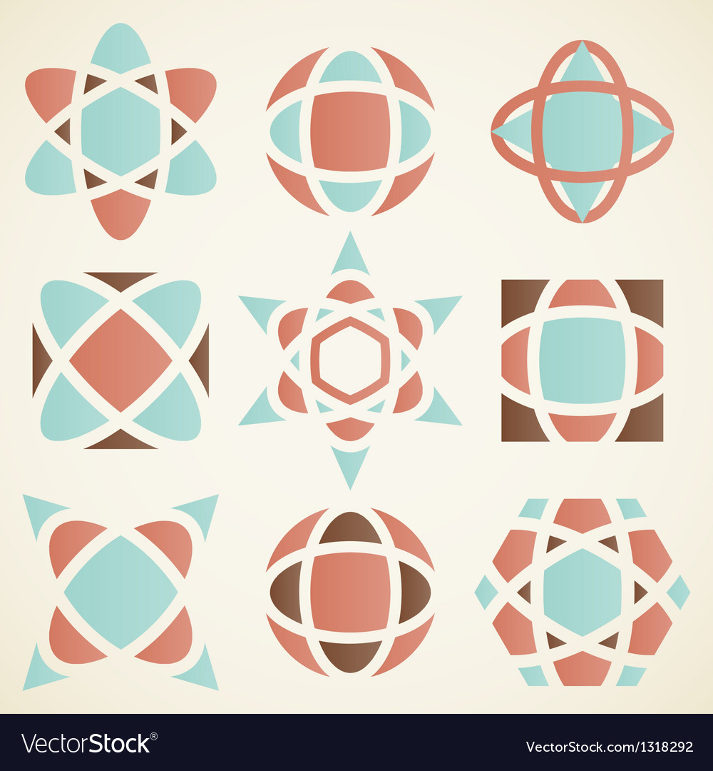 Abstract logo design elements vector | Price: 1 Credit (USD $1)
