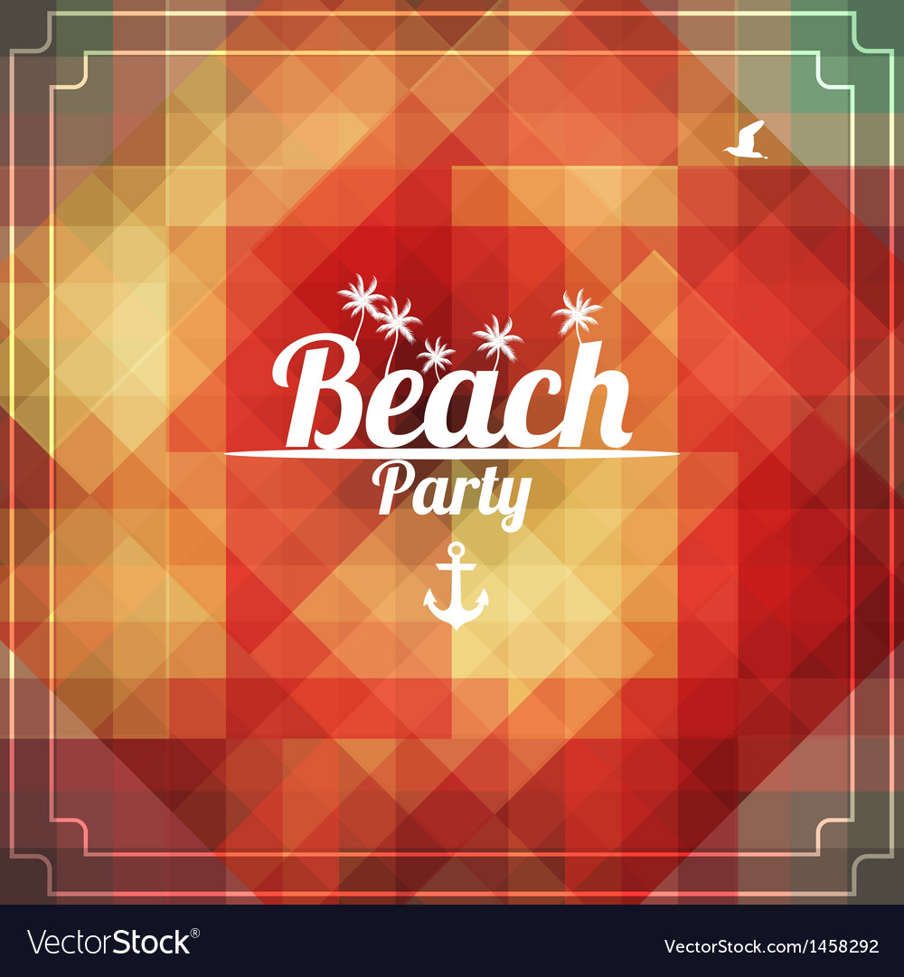 Beach party vector   Price: 1 Credit (USD $1)