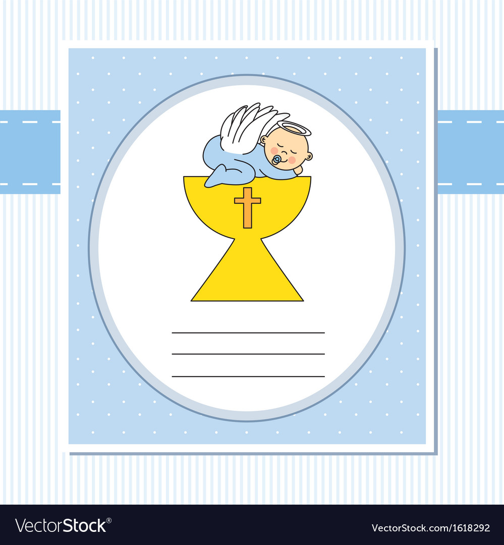 Christening card vector | Price: 1 Credit (USD $1)