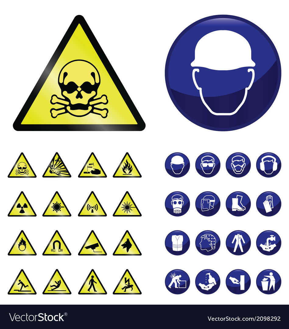 Construction and hazard signs vector | Price: 1 Credit (USD $1)