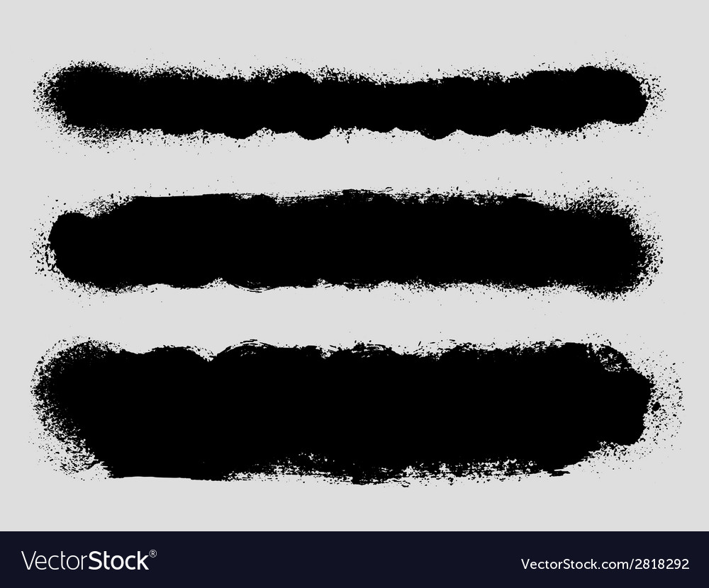 Grunge ink splattered background texture dividers vector | Price: 1 Credit (USD $1)