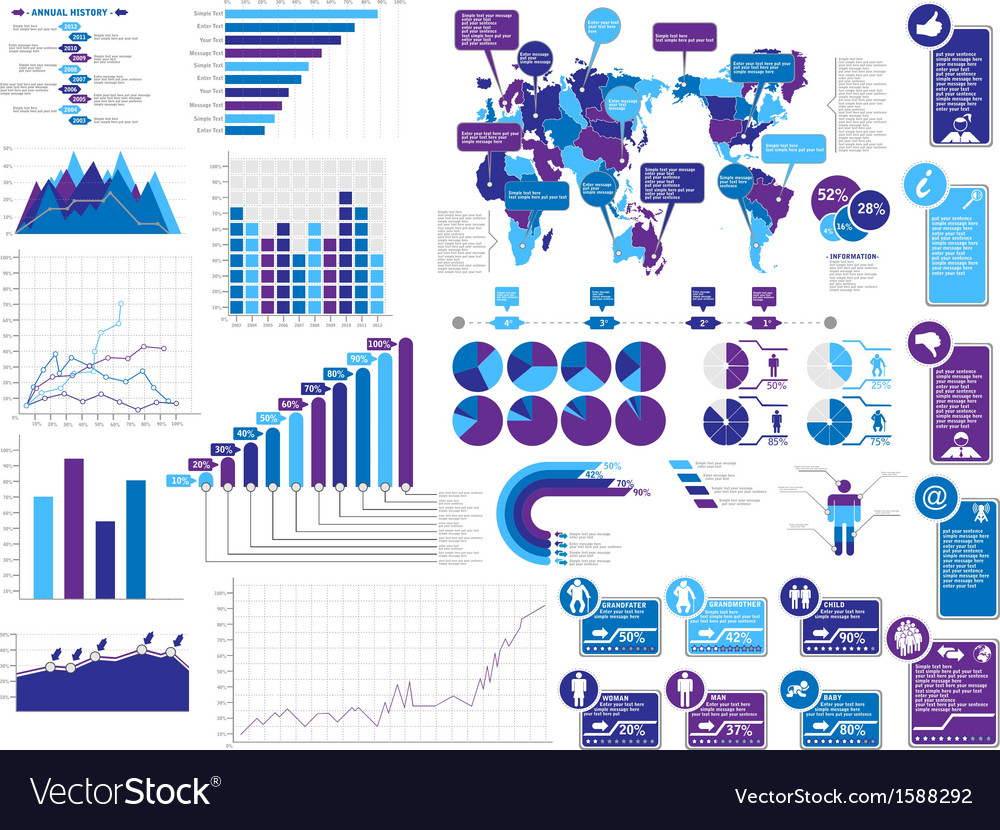 Infographics elements 3 vector | Price: 1 Credit (USD $1)