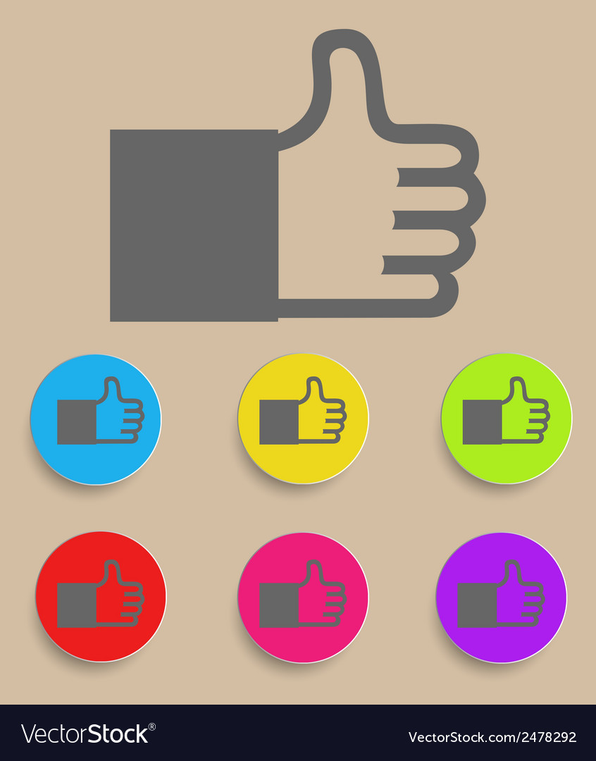 Like or thumbs up vector | Price: 1 Credit (USD $1)