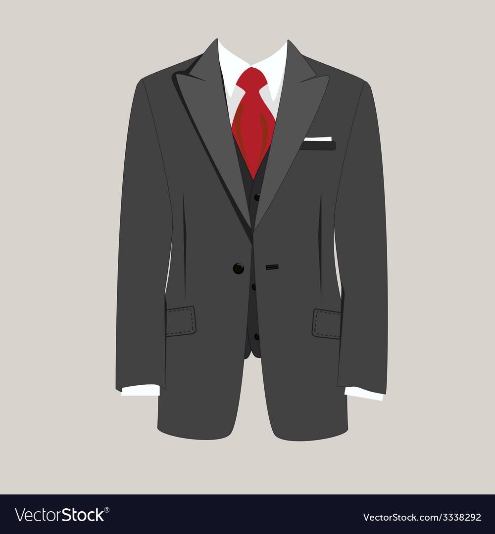 Man suit vector | Price: 1 Credit (USD $1)