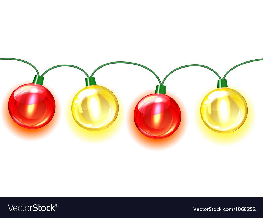 Multicolored lamp festive garland seamless vector | Price: 1 Credit (USD $1)