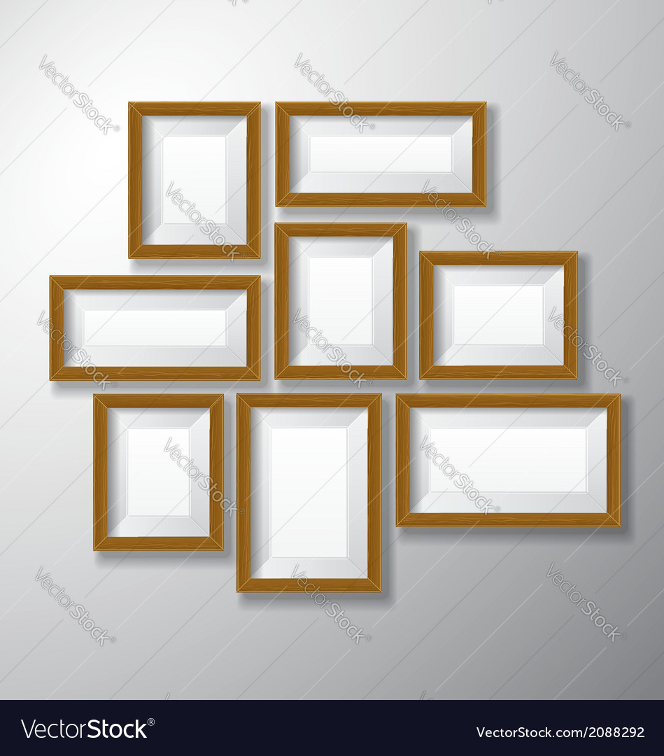 Picture frames wooden variety vector | Price: 1 Credit (USD $1)