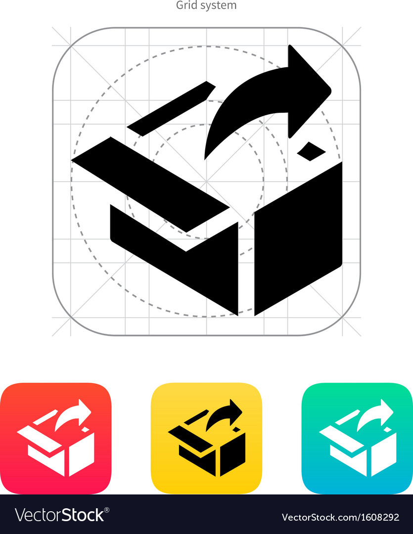 Share from box icon vector | Price: 1 Credit (USD $1)