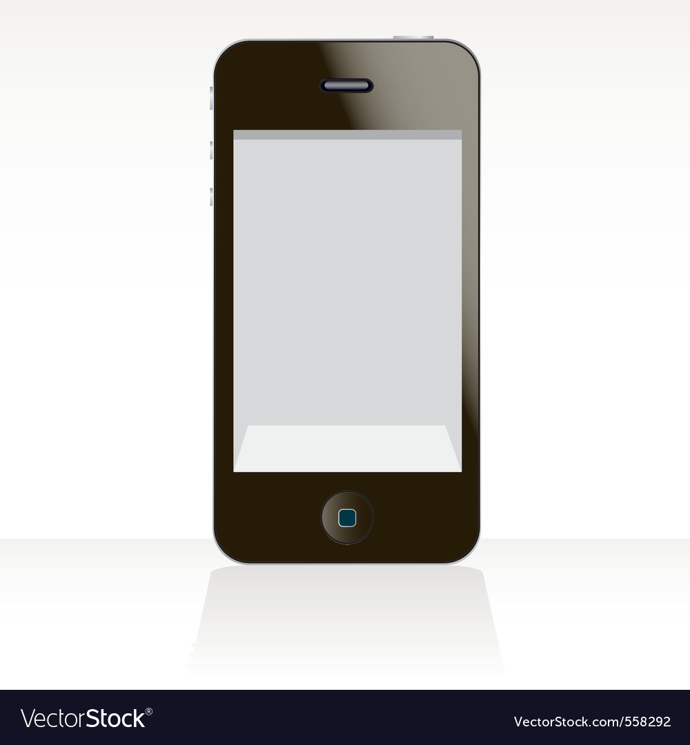 Smart cellphone touch vector | Price: 1 Credit (USD $1)