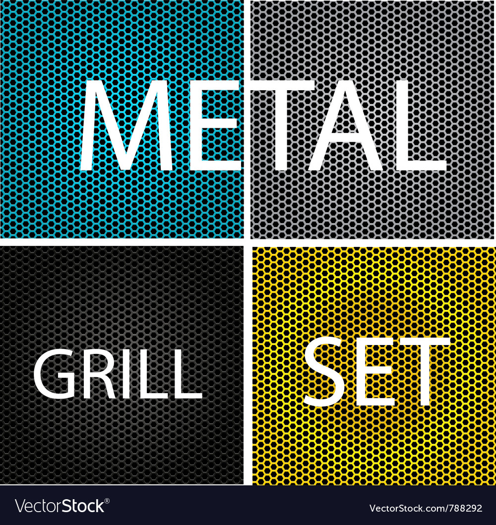 Texture chrome metal grill vector | Price: 1 Credit (USD $1)