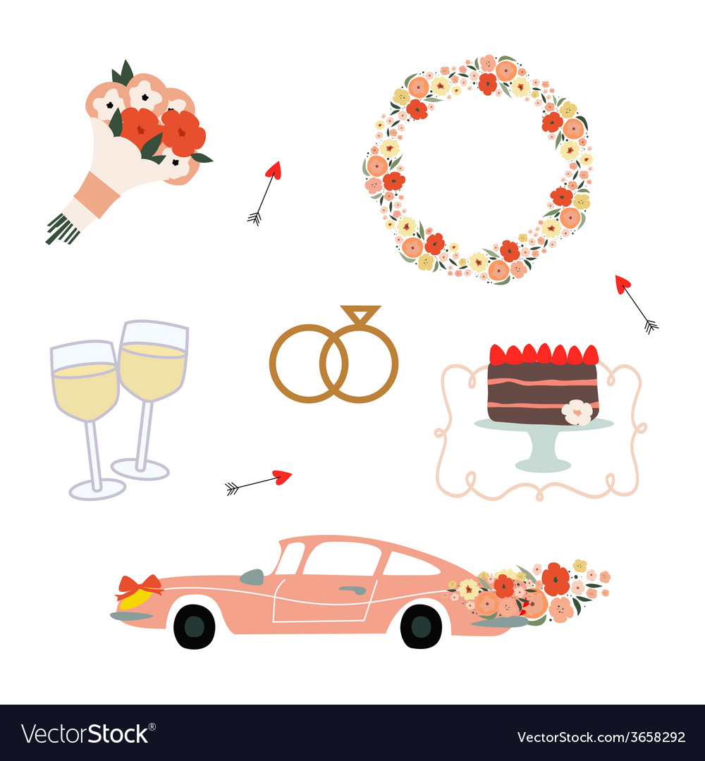 Wedding set vector | Price: 1 Credit (USD $1)