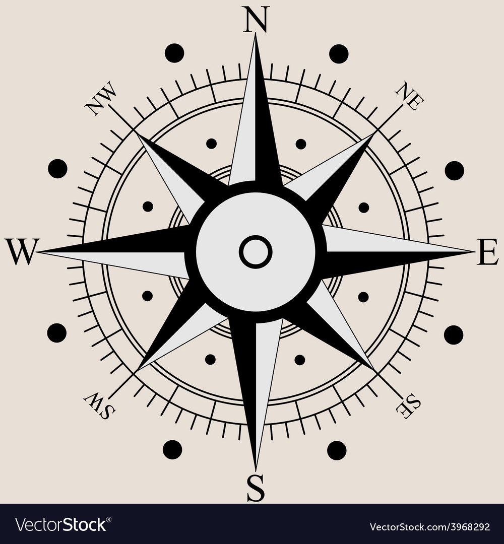 Wind rose compass flat symbols vector | Price: 1 Credit (USD $1)