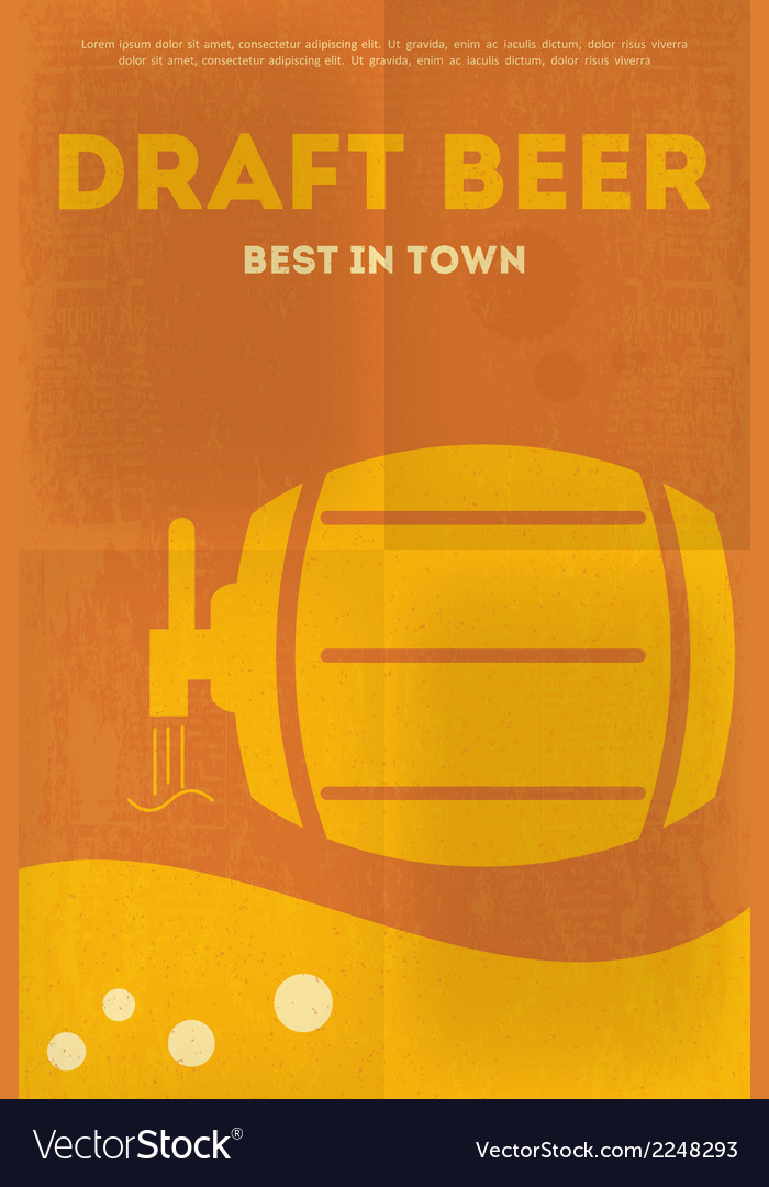 Beer poster draft vector | Price: 1 Credit (USD $1)
