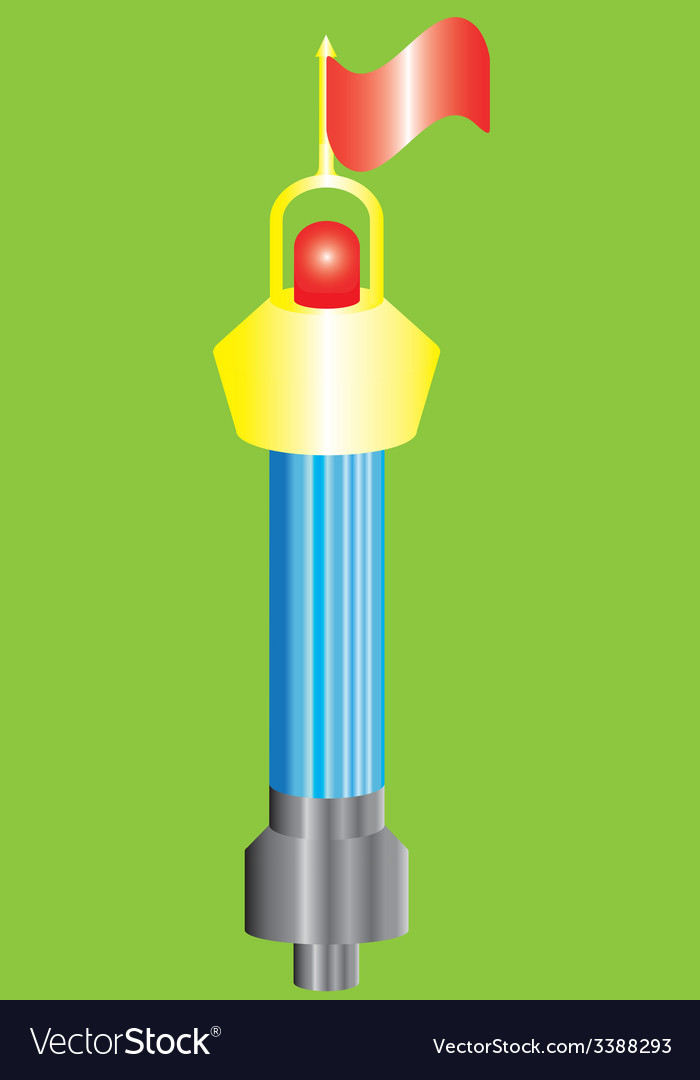 Buoy shone with a flag vector   Price: 1 Credit (USD $1)
