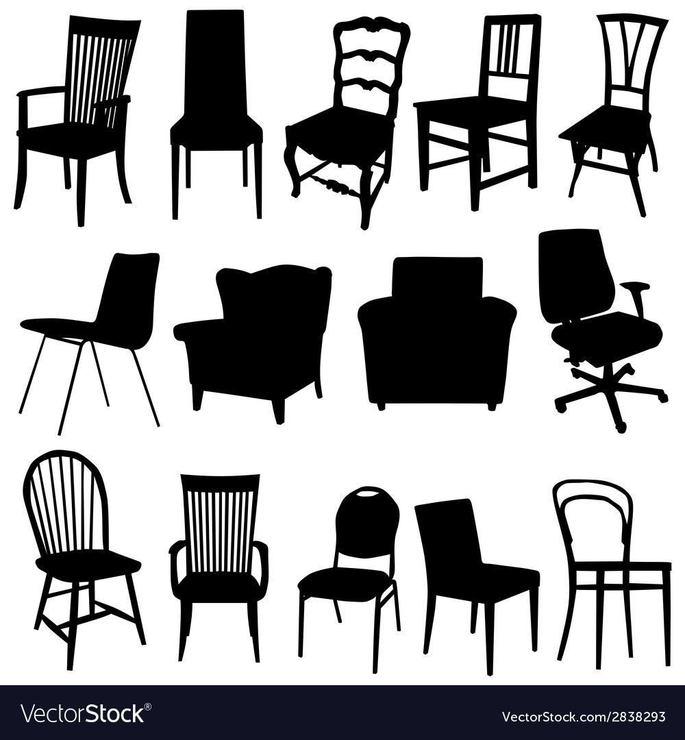 Chair art in black color vector | Price: 1 Credit (USD $1)