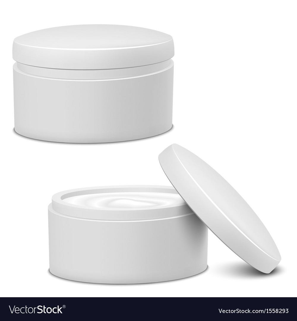 Cream jar vector | Price: 1 Credit (USD $1)
