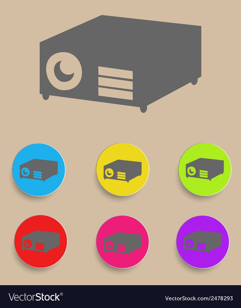 Data projector vector | Price: 1 Credit (USD $1)