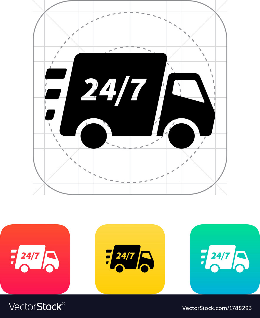 Delivery support seven days a week icon vector | Price: 1 Credit (USD $1)