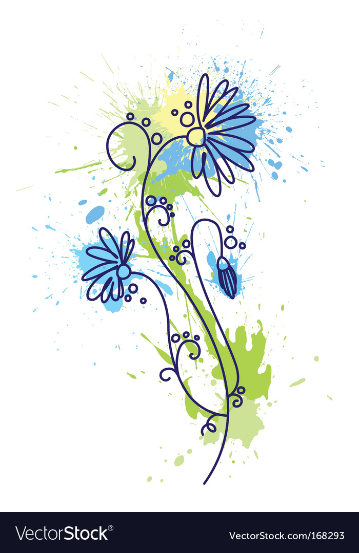 Floral design grunge vector | Price: 1 Credit (USD $1)