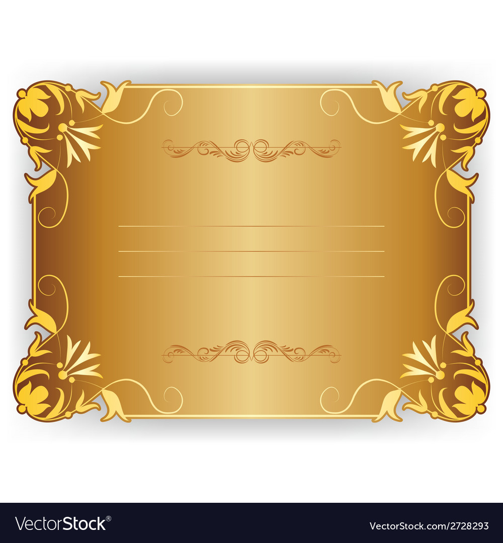 Frame card with lace ornament vector | Price: 1 Credit (USD $1)