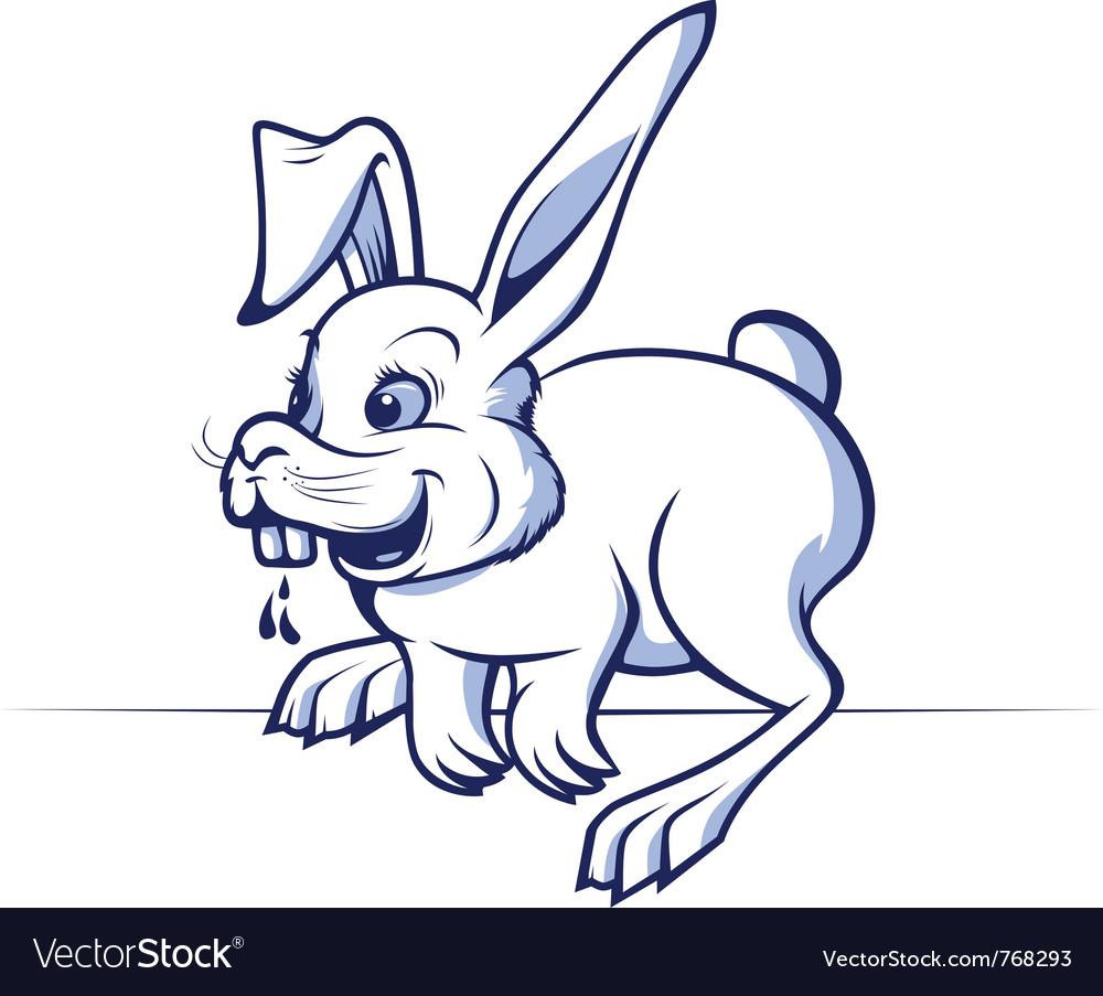 Funny cartoon rabbit vector   Price: 3 Credit (USD $3)