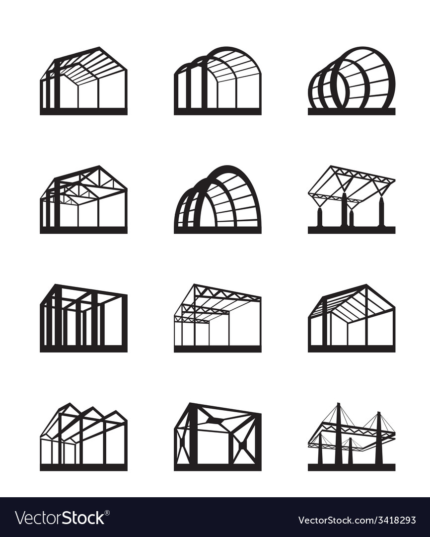 Metal structures in perspective vector | Price: 1 Credit (USD $1)