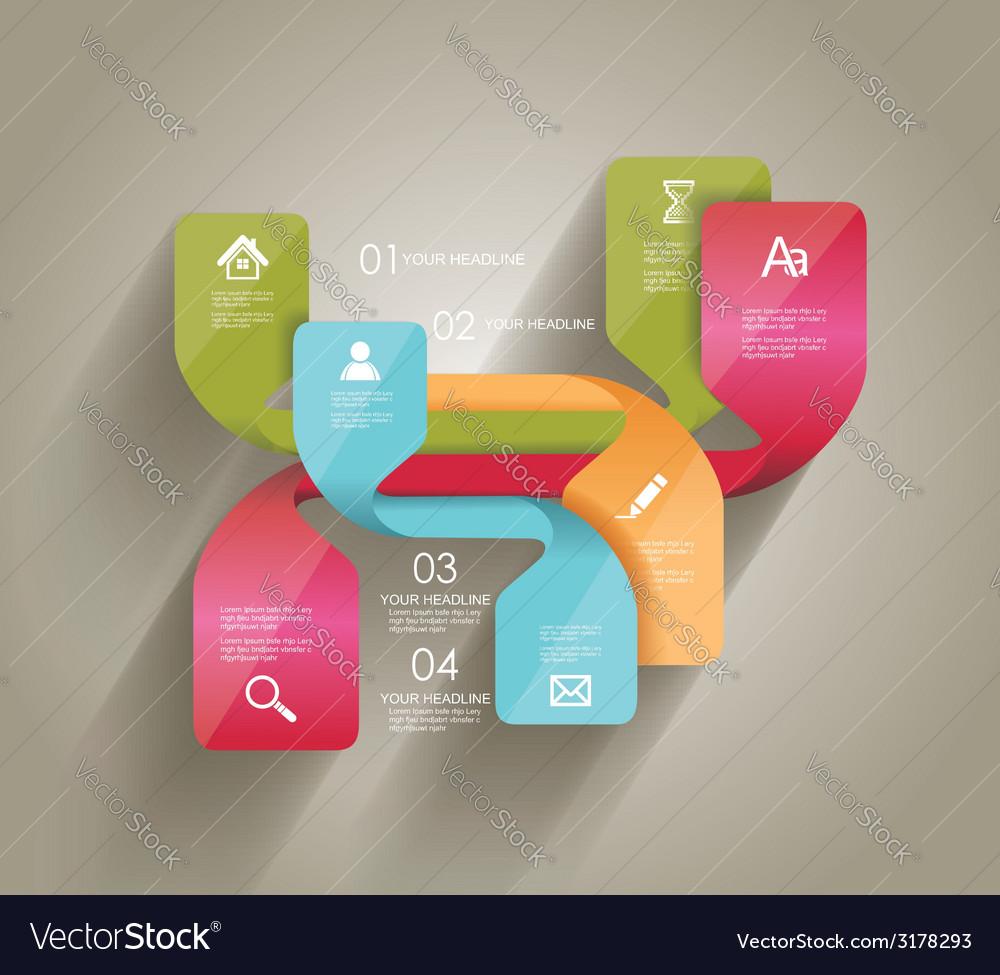 Modern minimalistic infographics banner vector | Price: 1 Credit (USD $1)